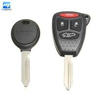 4 Buttons Uncut Keyless Remote K0BDT04A 46 Chip Key For Chrysler Dodge Jeep