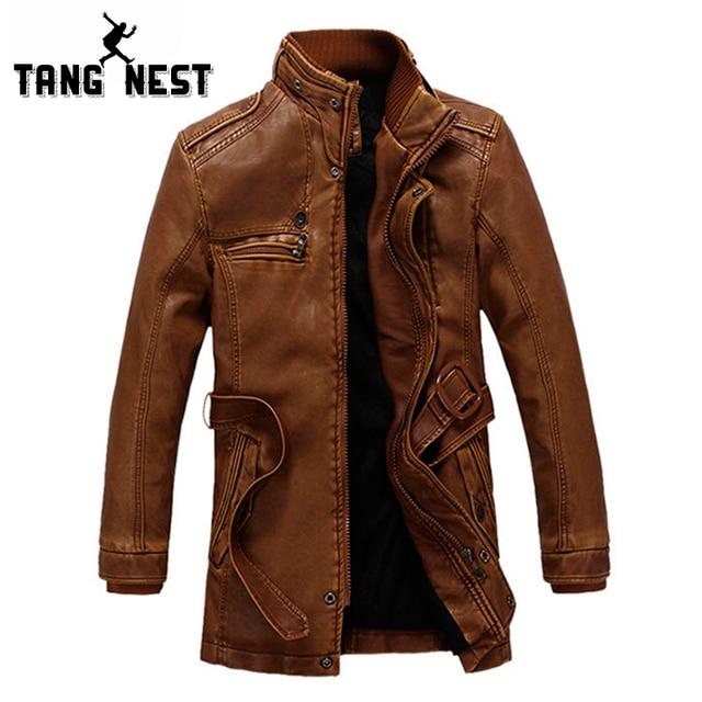 2017 New Arrival Warm Men's PU Leather Jaclket Winter Fleece Thick Windbreaker Fashional Slim Fit Casual Jackets MWP218