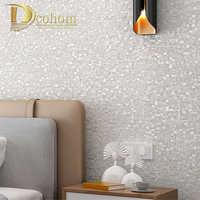 Papel pintado De mosaico De purpurina De lujo Papel tapiz De pared Papel De aluminio dorado revestimiento De paredes De techo plateado Papel De pared 3D