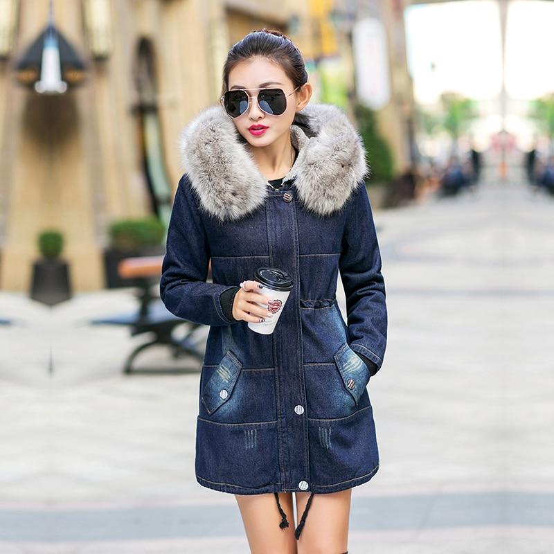 D'hiver Mince 2017 Femmes J22 Denim Épais Dames Rembourré Survêtement Sahezeng Coton De Fourrure Chaud À Capuchon 559 Manteaux Jeans Vestes 1 nN8wOPX0k