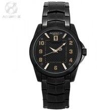 9d5c9310ae4 AGENTX Preto Data de Exibição Homens Relógios De Quartzo Da Marca Homem  Liga Militar Dos Homens