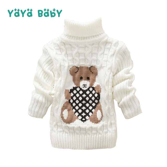 1 2 3 Year Baby Boys Girls Sweaters Autumn Winter Knitted Turtleneck ...