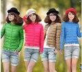 Moda nuevo slim frívolo corto abajo chaqueta abrigo de invierno yardas grandes de las mujeres pure color de manga larga pequeña chaqueta de algodón acolchado chaqueta D282