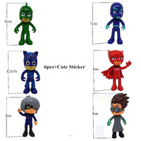 6pcs Set Kid S Masked Pajamas Action Figure Toys PJ Masks Owlette Catboy Gekko Baby Gift