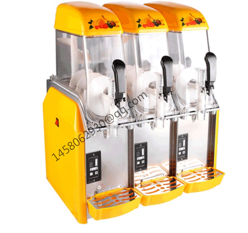 Alibaba china factory price stainless steel commercial ice slush machine Frozen Slush Dispenser Snow grains machine duoble heads juice dispenser slush machine 15l 2