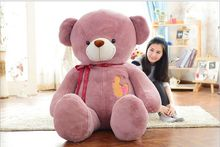 huge plush bow bear toy large pink teddy bear doll gift about 160cm174