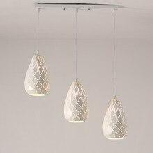 New Modern Pendant Light Dinning Room Kitchen Hanging Lamp E27 Led bulb Gift White Iron Decor Home Lighting Fixtures 110-240V
