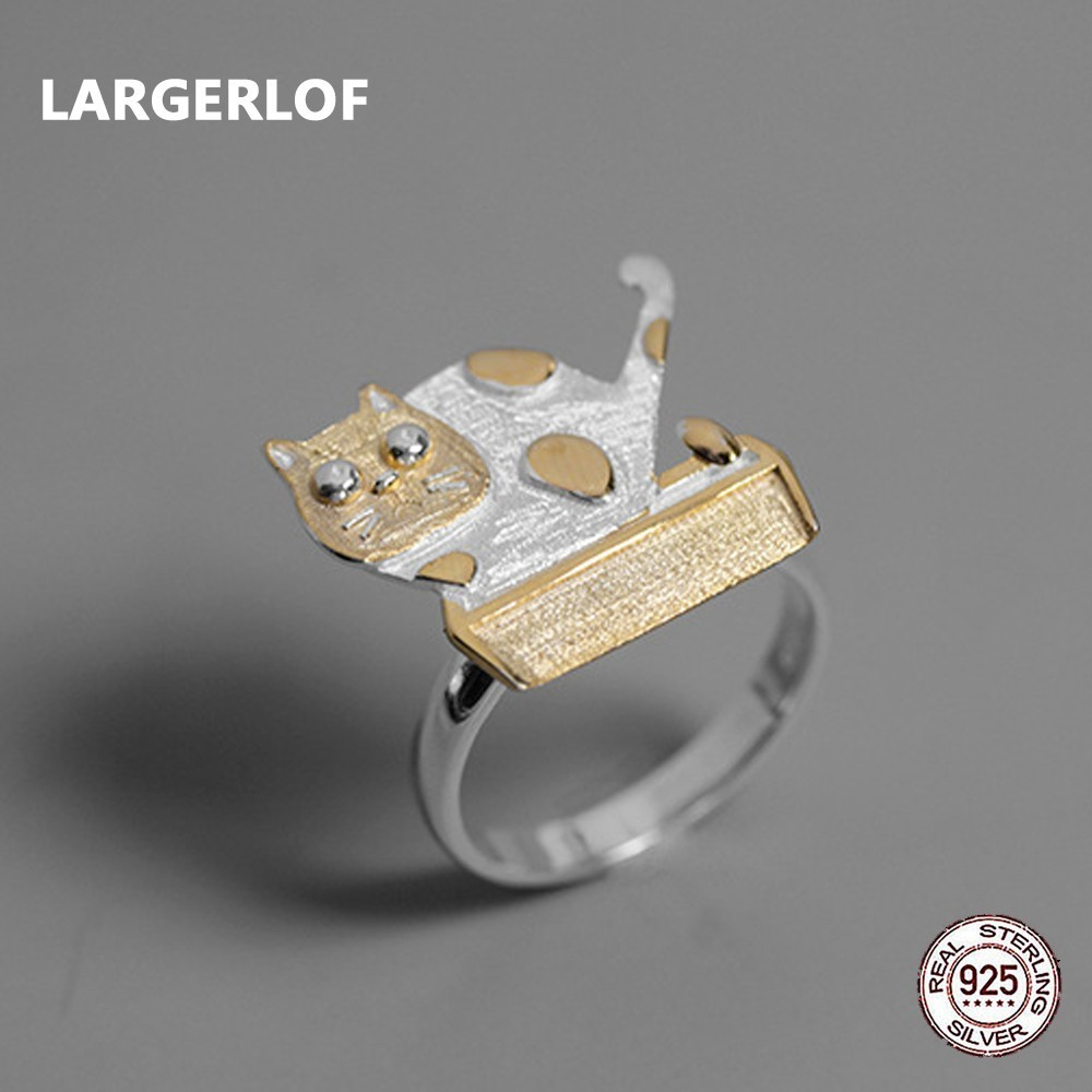 LARGERLOF Real Silver 925 Ring Women Handmade Fine Jewelry 925 Silver Jewelry Rings For Women RG57013 largerlof 925 silver ring women handmade fine jewelry silver 925 jewelry ring silver 925 jz12077