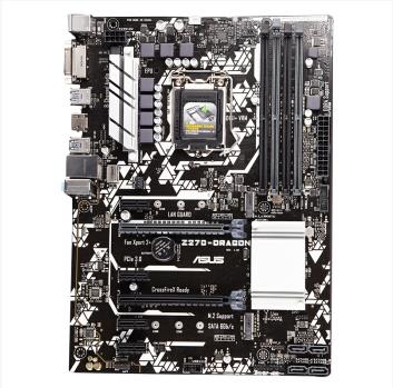 ASUS Z270-DRAGON motherboard supports <font><b>I7</b></font> <font><b>7700K</b></font> overclocking. Three-year warranty. Dual M.2 interface DDR4 used motherboard image