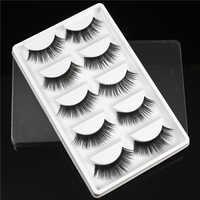 5 Pairs Natürliche Falsche Wimpern Gefälschte Wimpern Lange Make-Up 3d Nerz Wimpern Wimpern Verlängerung Nerz Wimpern für Schönheit