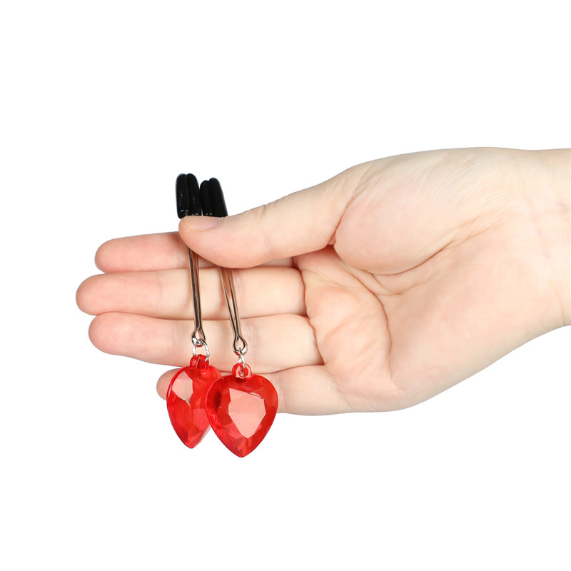 1 Pair Love Heart Type Sex Breast Nipple Clamps Adult Game Nipple Clip Fetish Flirting Teasing BDSM Adult Sex Toys For Couples