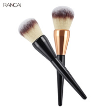 RANCAI Champagne Gold Precision Liquid Foundation Brush Perfect Pro Tapered Buffing Sculpting Angled Makeup Brushes Tool