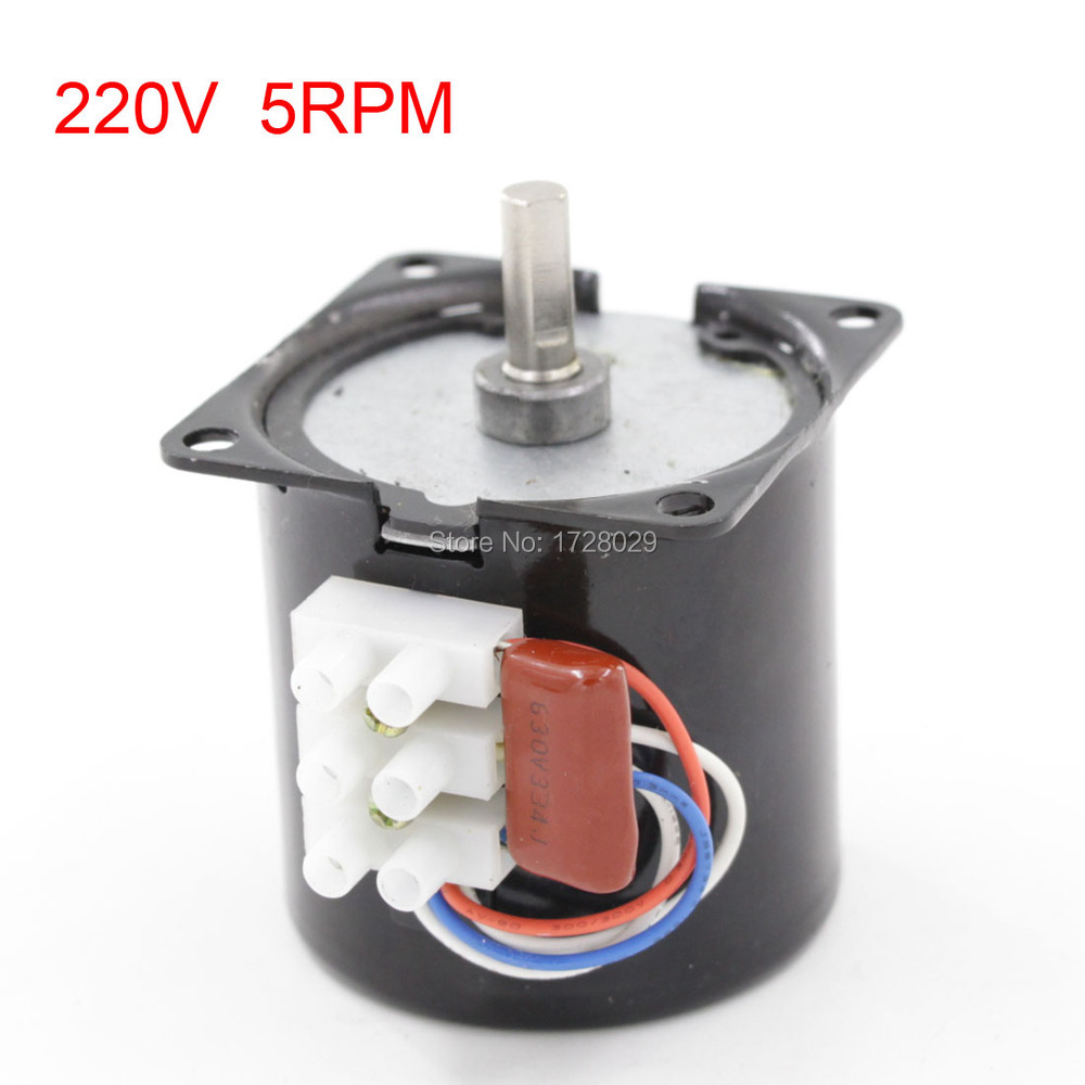 60KTYZ AC 220V 5RPM 14W Synchronous Gear Motor