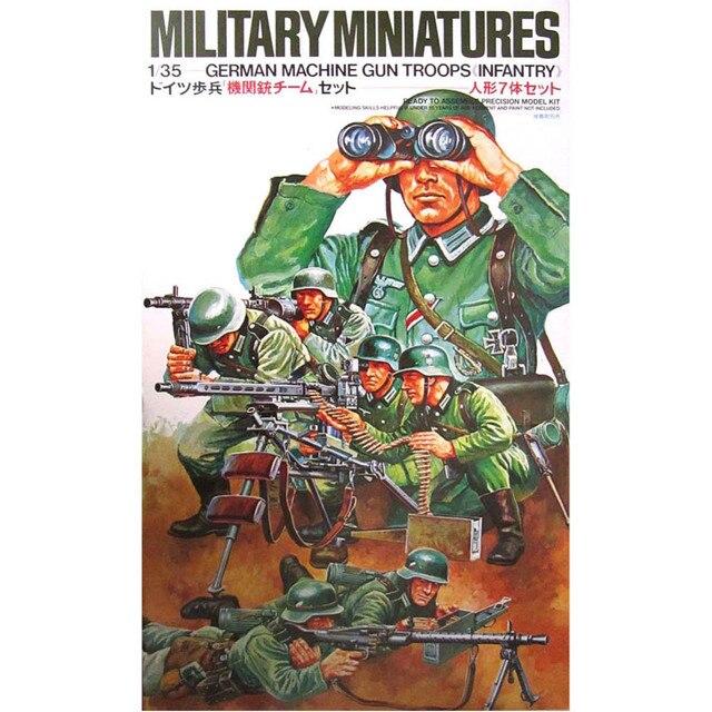 OHS Tamiya 35038 1/35 troupes de mitrailleuses allemandes ensemble dinfanterie Miniatures dassemblage figurines militaires maquettes Kits de construction G