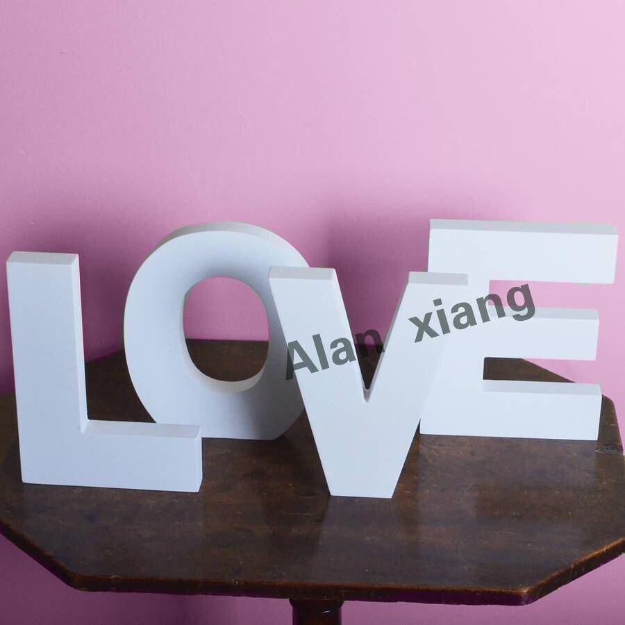 Бесплатная доставка Любовь Знак DIY свадебные украшения Стене висит деревянные буквы