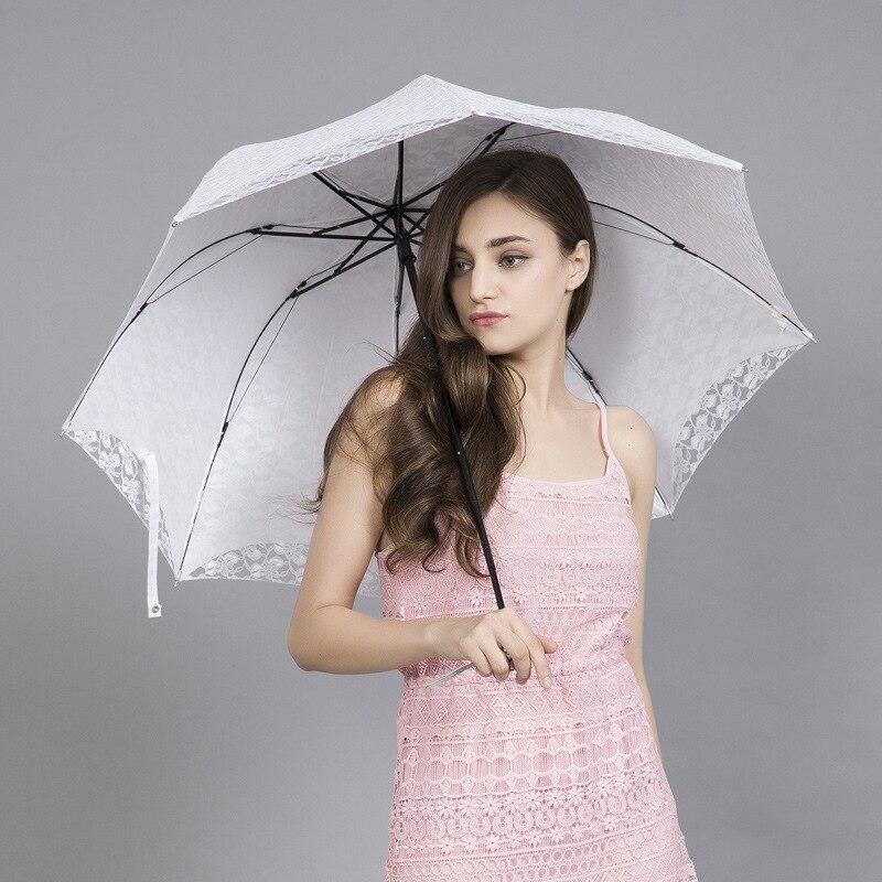 Parapluie de pluie Sombrilla Parasol fête décorer dentelle Parapluie pour les filles de mariage princesse Uv Parasol Parapluie Parapluie femmes Z676