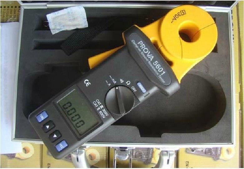 Aletler'ten Dirençölçerler'de TES PROVA 5601 Temassız kelepçe on Toprak direnç test aleti Ölçer 23mm Çene 30A title=