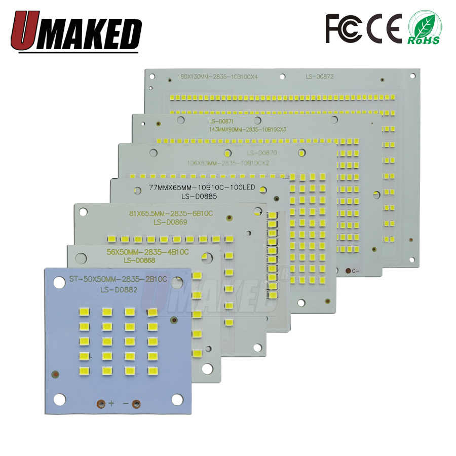 100% Full Power LED Floodling PCB 10W 20W 30W 50W 70W 100W 200W SMD2835 led PCB board,Aluminum plate for led floodlight