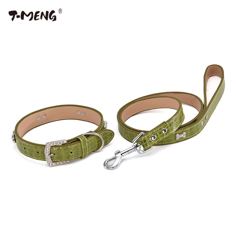 T-MENG-hot-sale-high-quality-pu-leather-pet-collar-fashionable-green-pet -products-dog-collars.jpg 1e4962e2d877
