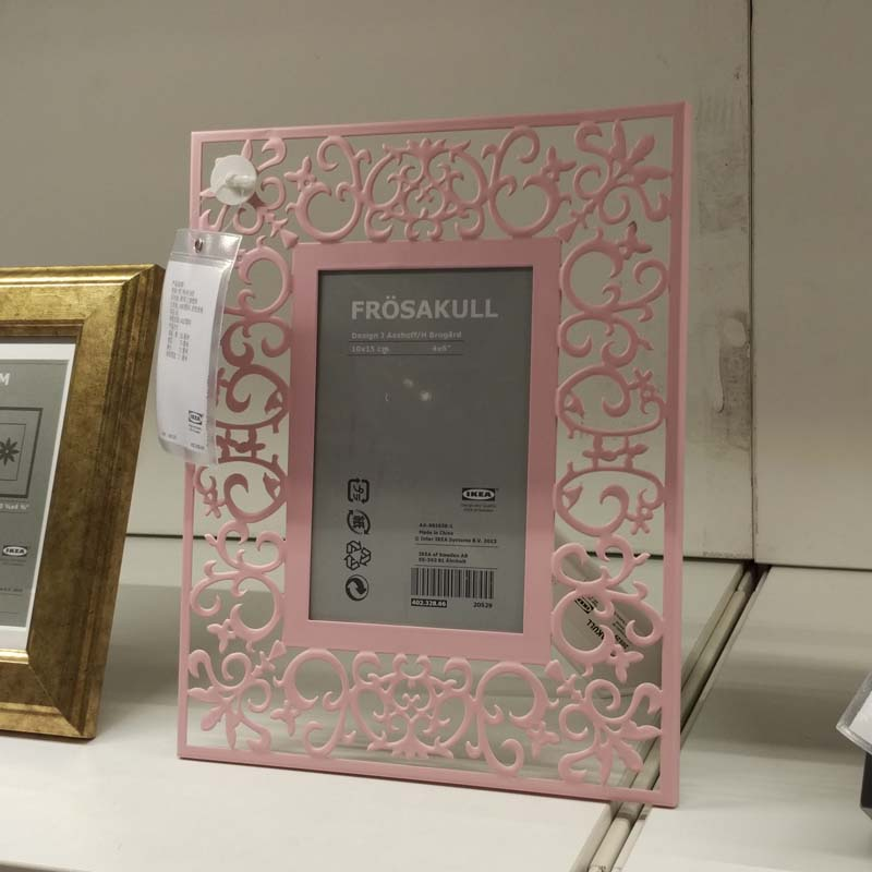 4x6 pink hollow carved photo frames steel picture frame frosakull marco de fotos frame home decoration wedding gift
