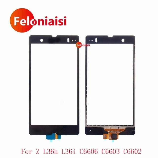 "High Quality 5.0"" For Sony Xperia Z L36h L36i C6606 C6603 C6602 Touch Screen Digitizer Sensor Outer Glass Lens Panel+Tracking"