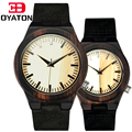 Lover's Watches High Quality Bamboo Wood Watch Form Janpan 2035 Quartz Analog Casual Wristwatch For Couple Clock Gift OYATON
