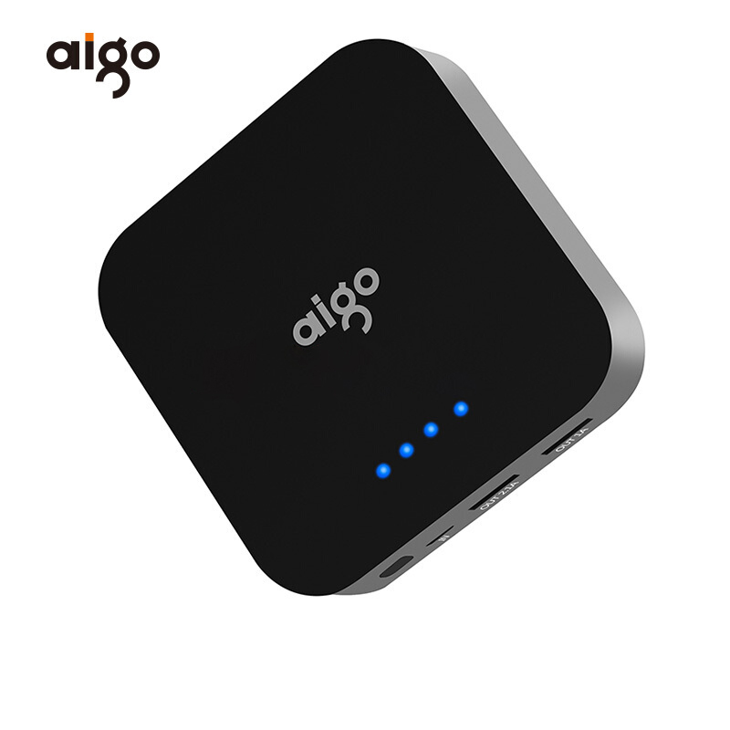 Aigo 10000mAh Power Bank Mobile Phone External Battery Portable Charger quick charge Powerbank for iPhone Xiaomi Samsung iphone
