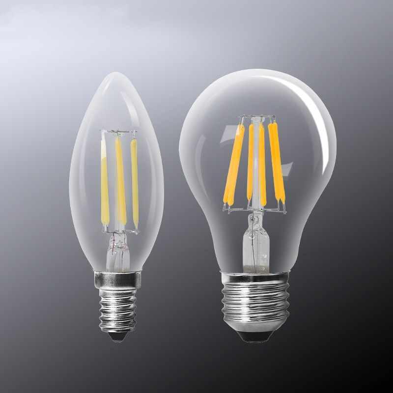 Rétro Ampoule à LED edison E14 E27 LED Ampoule Vintage Filament bougie lumière LED lampe Bombillas 4 W 6 W 220 V A60 Ampoule LED Ampoule