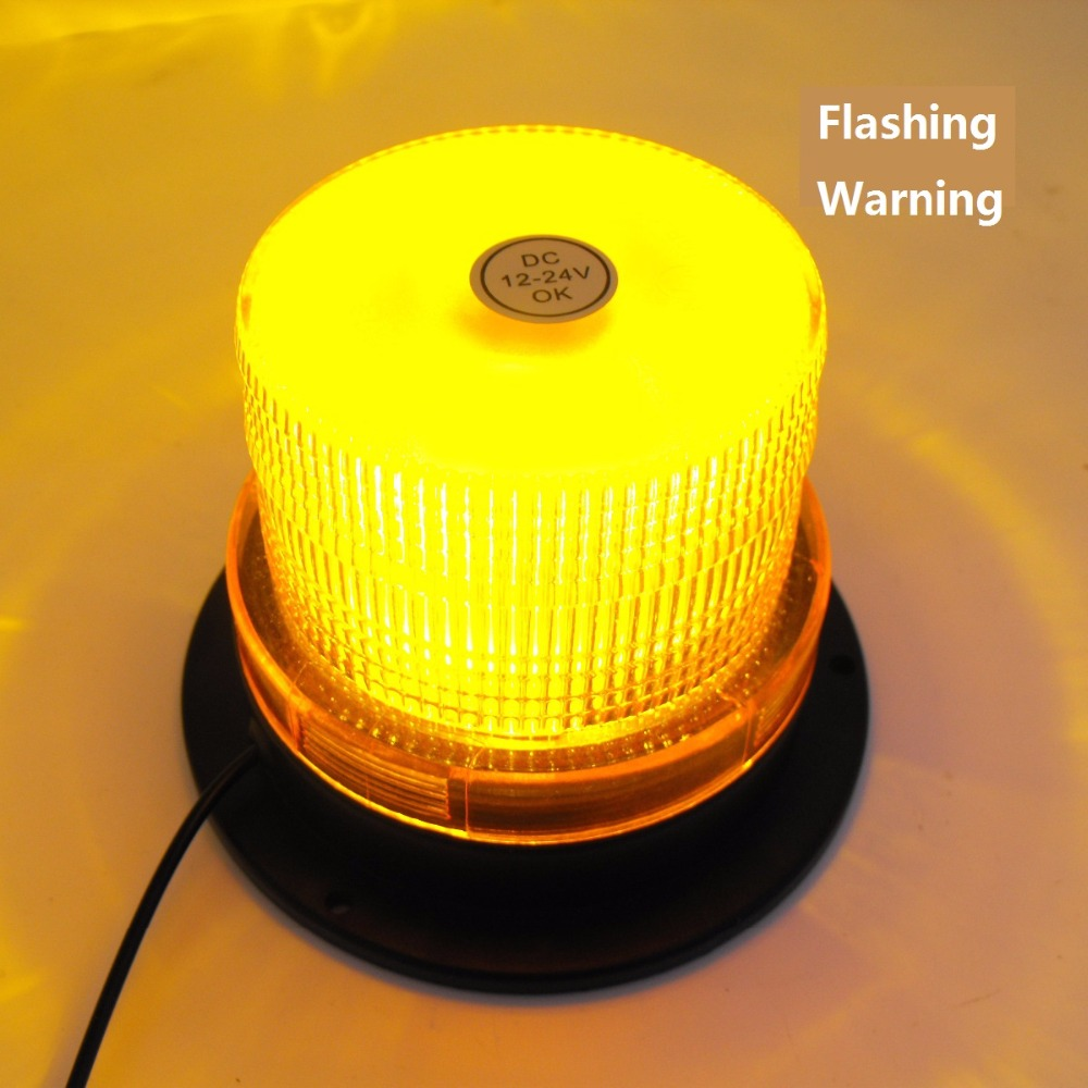 LED Small Yellow Lights School Engineering Trailer Flash Lights Roof Warning Cars