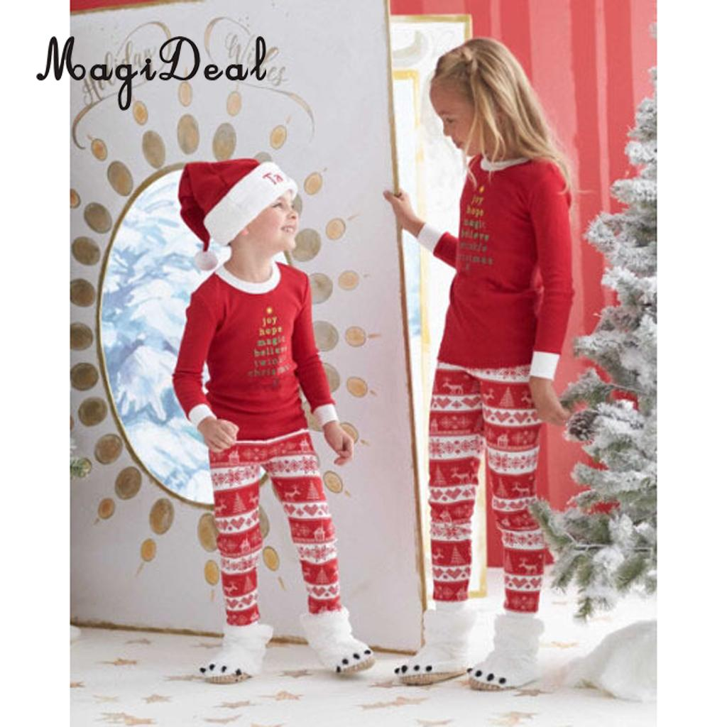 Christmas Family Matching Pyjamas Set Kids Adult Sleepwear Nightwear Outfit Homewear Lei ...