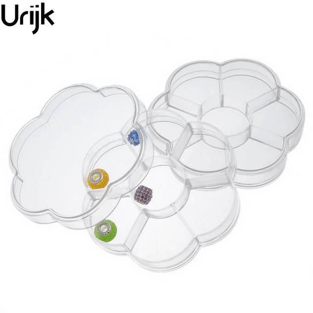 Urijk Mini Plastic Storage Box Organizer For Jewelry Clear 7