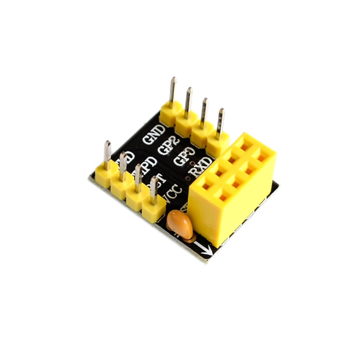 USB to <font><b>ESP8266</b></font> WIFI module ESP-01 ESP-01S Remote Serial Port WIFI Sensor Transceiver Wireless <font><b>Board</b></font> ESP01S Breakout PCB <font><b>Adapter</b></font> image