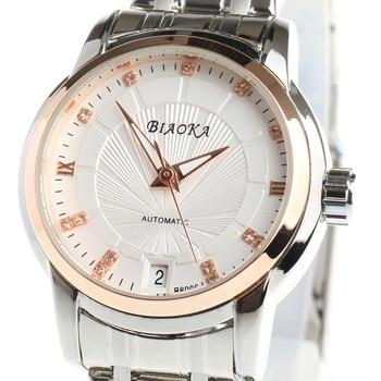 цена на BIAOKA Brand Fashion Rose gold Watch women Clock Classic Mechanical Wrist Relogio Feminino Dress Skeleton Waterproof Watch