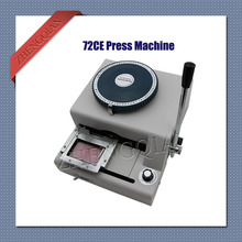 72CE pvc card embosser machine model manual code printer with italics codes