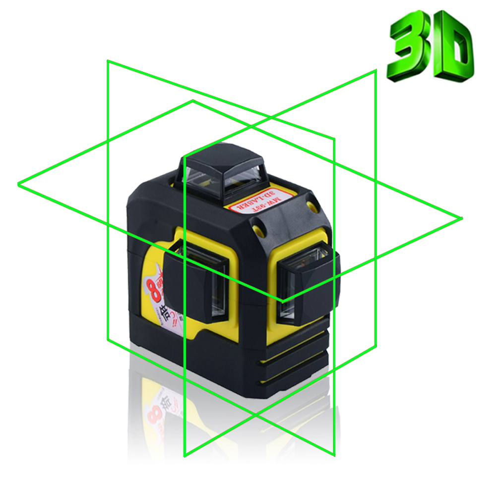 Firecore 3D 93T 12Lines Green Laser Levels Self-Leveling 360 Horizontal And Vertical Cross Super Powerful Green Laser Beam Line fukuda mw 99t 12lines 3d laser level self leveling 360 horizontal and vertical cross super powerful red laser beam line