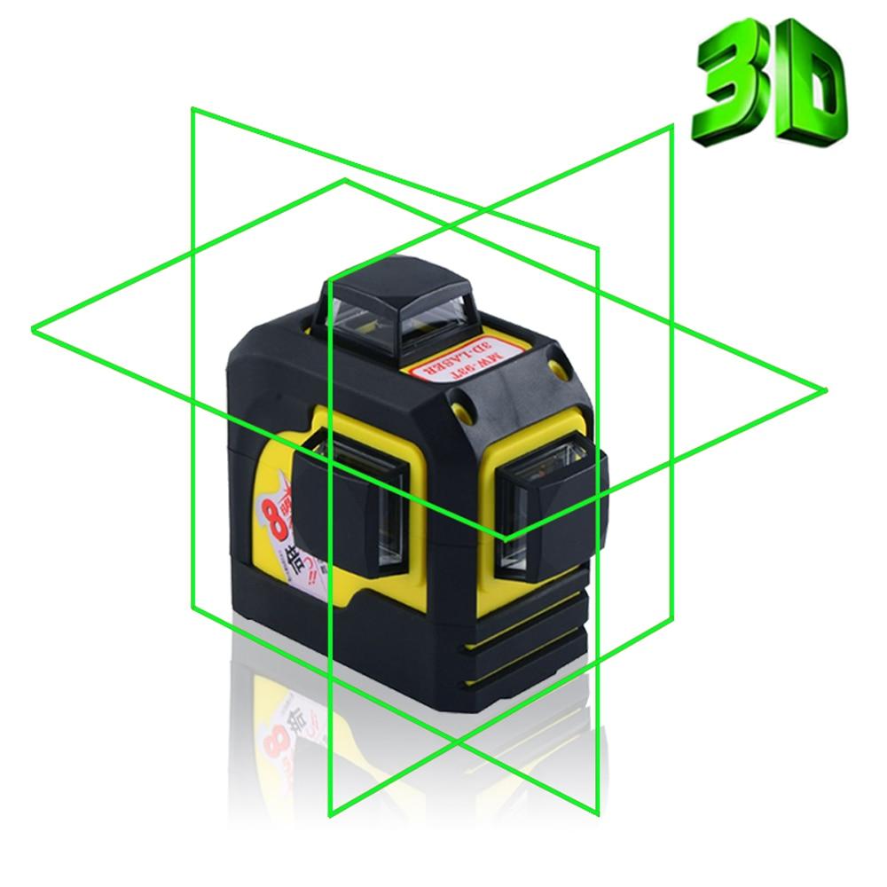 Firecore 3D 93TG 12 линий зеленый Лазерные уровни наливные 360 горизонтальный и вертикальный крест супер мощный зеленый лазер луч линии