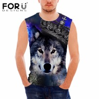 FORUDESIGNS Novelty GOD FINDS HIMSELF BY CREATING Letter Printing Vests For Male Gym Clothing Bodybuilding Tank