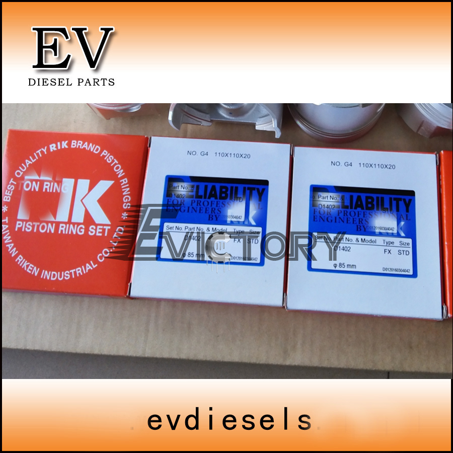 Engine rebuild kit Kubota D1402 D1462 piston ring set full gasket kit  D1402-in Pistons, Rings, Rods & Parts from Automobiles & Motorcycles on