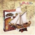 Кубических Fun 3D Трехмерные Головоломки модель корабля бумага Для Детей Мэри яхта T4010h
