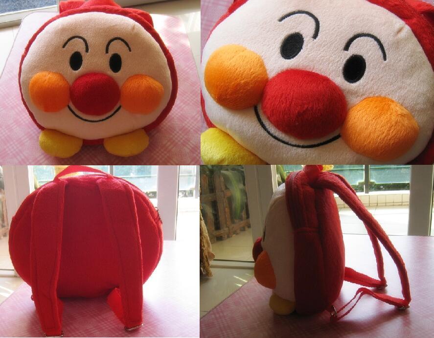 Candice guo! Súper lindo bebé juguete peluche mochila redondo gordo Anpanman mochila escolar regalo de juguete de kindergarten 1 unid