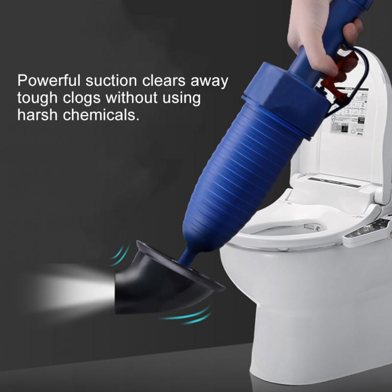 Handle Powerful Suction Plunger Toilet Plunger Cleaner