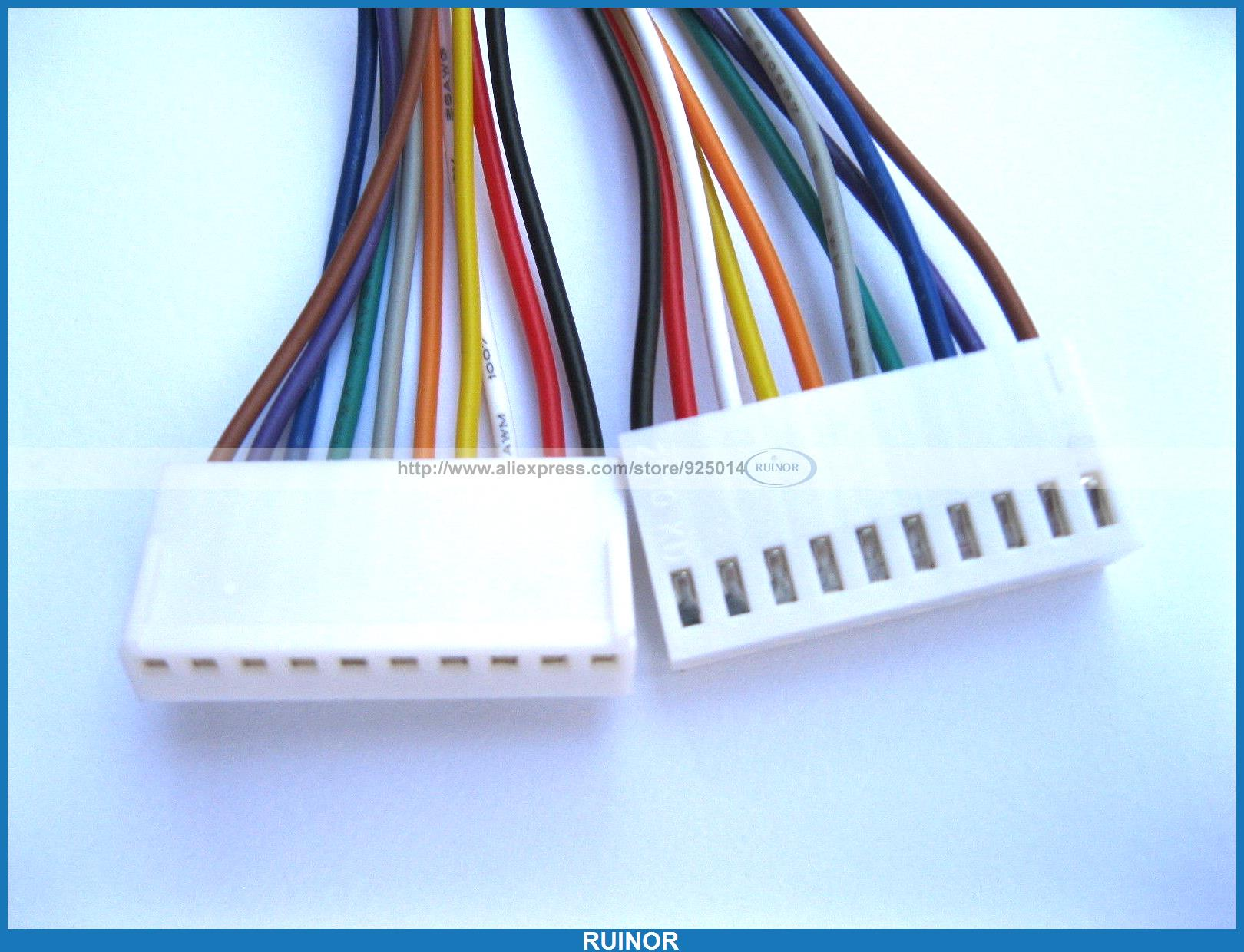 15 Pcs/LOT 2510 2.54mm Pitch 10 Pin Female Connector with 26AWG 300mm Leads Cable