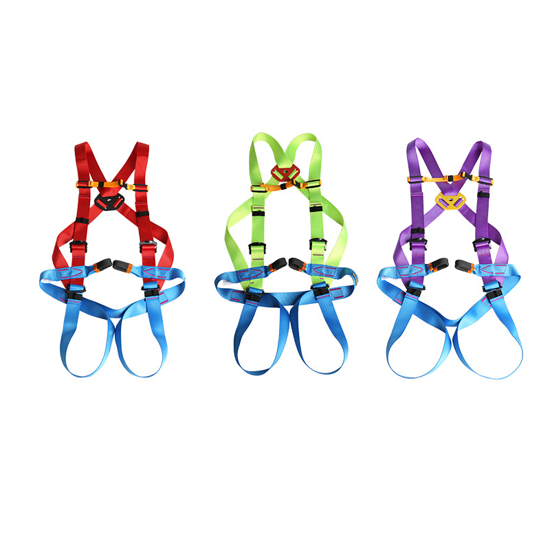 Outdoor Rock Climbing High Work Rappelling Harness Seat Belt Full Body Harness Safety Belt outdoor rock tree climbing rappelling full body safety belt harness black for camping hiking carving equipment climbing acces