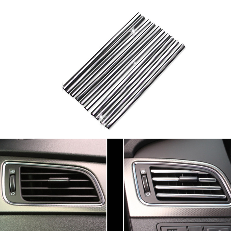 Car-styling 2018 New U Shaped DIY Air Vent <font><b>Grille</b></font> Decoration for <font><b>Audi</b></font> A1 A2 A3 <font><b>A4</b></font> A5 A6 A7 A8 B5 B6 <font><b>B7</b></font> B8 C5 C6 Q2 Q3 Q5 Q7 TT image