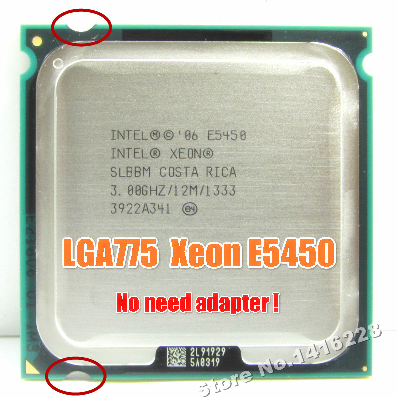Intel xeon e5450 processor 3 0ghz 12m 1333mhz equal to q9650 works on lga775 mainboard no