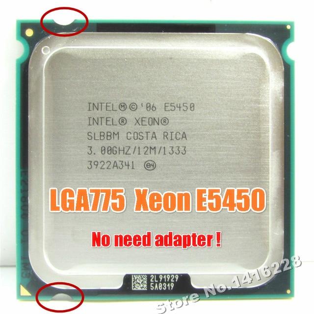 Processador Xeon E5450 3.0 GHz 12 M 1333 Mhz igual a intel Q9650 funciona em lga 775 mainboard sem necessidade adaptador