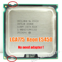 Works On LGA 775 Mainboard No Need Adapter For Xeon E5450 CPU 3 0GHz 12M 1333