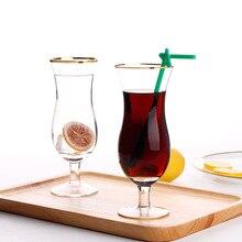 400 ml transparent golden breakfast milk cup juice edge glass custom-made foreign trade single summer