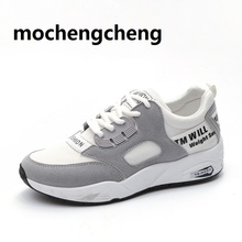 Spring Woman walking Shoes Sneakers flat lace-up Round head Wear-resistant Breathable All-match light Non-slip balanced female