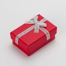 Подарочная коробка для ювелирных изделий 4*6*25 см 20 шт смешанные